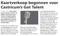 Henny presenteert Castricum's Got Talent